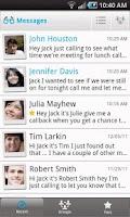 Screenshot of VisionMail Visual Voicemail