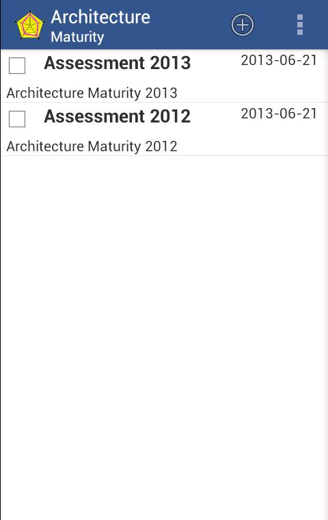 Architecture Maturity- screenshot