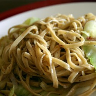 Fried Cabbage and Egg Noodles.