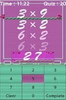 Screenshot of Multiplication Table Master~!!