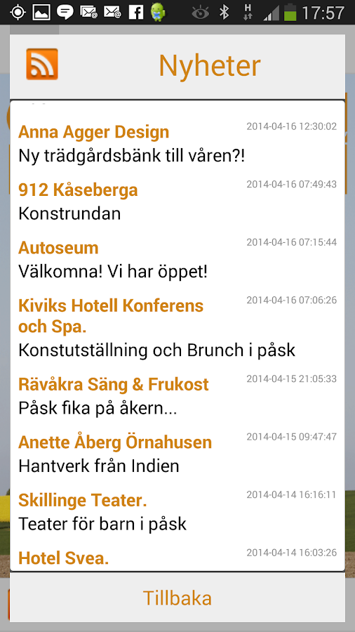 Österlen i Handen- screenshot
