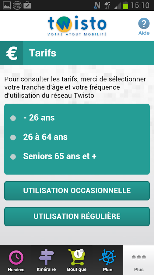 NFC Twisto pour Orange – Capture d'écran
