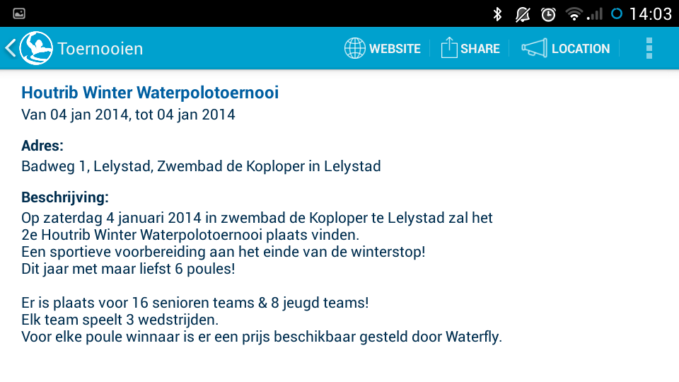 Waterpolo.nl - screenshot
