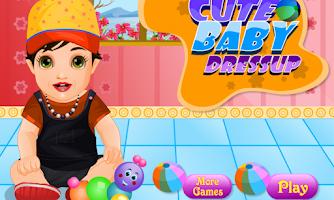 Screenshot of Cute baby dressup