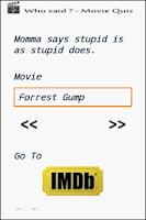 Screenshot of Cool Quotes - Movie Quiz
