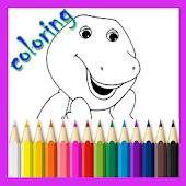 Purple Dinosaur Coloring