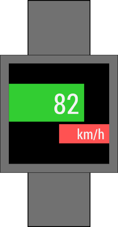 Speedometer for Android Wear- screenshot