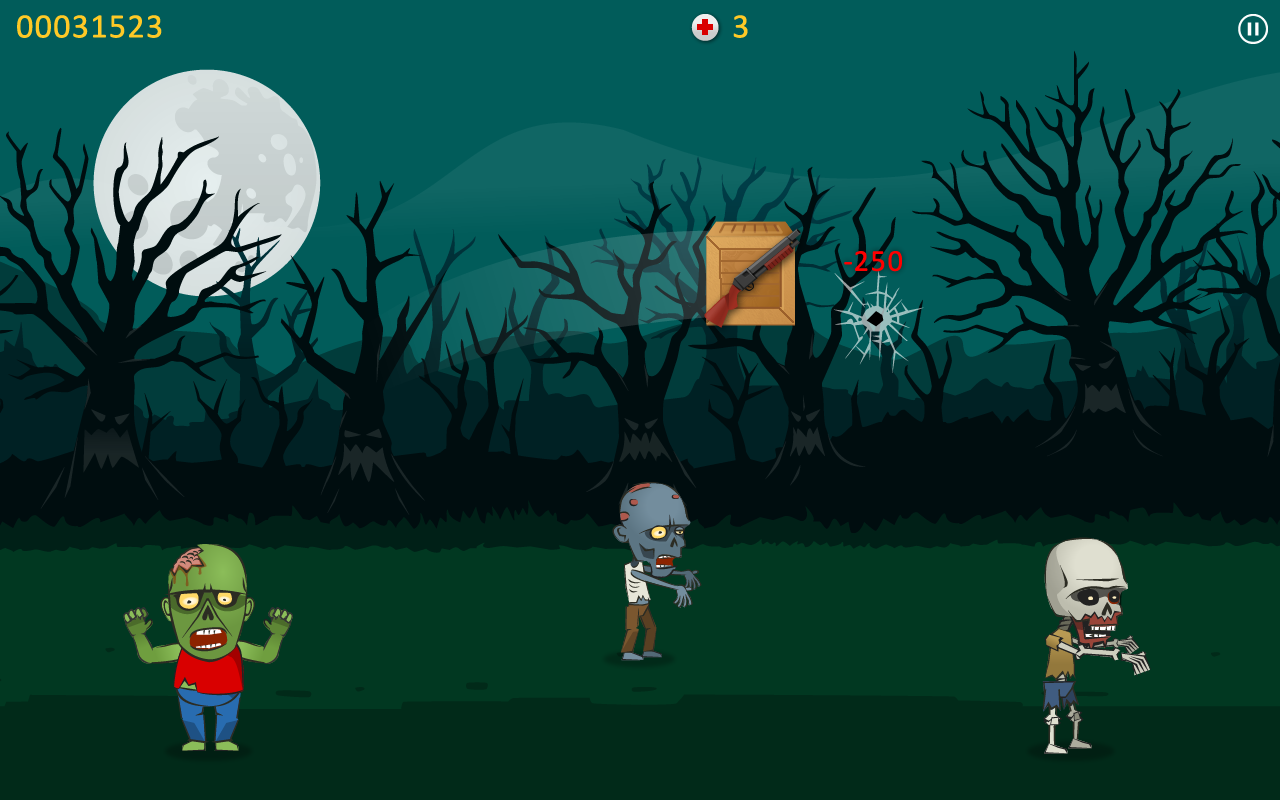 Zombie Blood - Tap Tap Shooter - screenshot