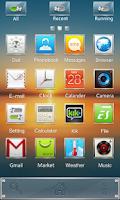 Screenshot of Square GO Launcher Theme