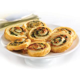 Spinach-Cheese Swirls.