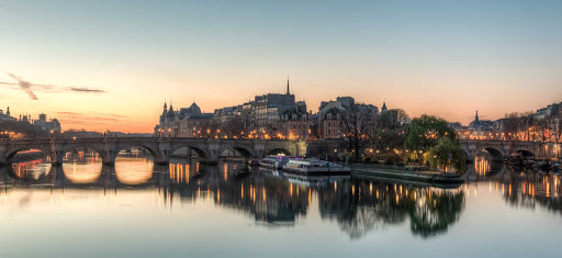 Ile-de-la-Cite-Paris -  The Ile de la Cite as seen from the Pont des Arts in Paris shortly before sunrise in this HDR image.