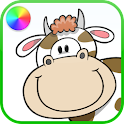 Farm Animals Coloring Book logo