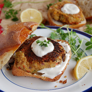 Vegan Crab Cakes with Sweet Balsamic Mayo.