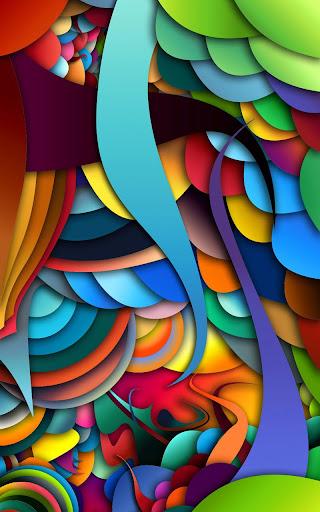 색상은 라이브 배경 화면