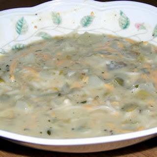 Cream of Green Chilli Soup.