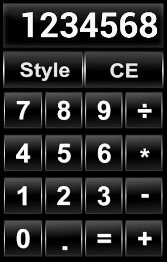 Black and White Calculator