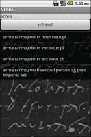 Screenshot of Verba-Android Latin Dictionary