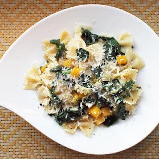 Skillet Kale and Pumpkin Pasta