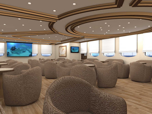 Silver_Explorer_main_lounge - Meet and mingle with guests in the lounge of Silver Explorer.