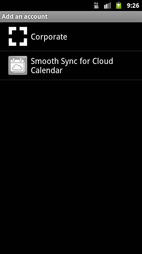SmoothSync for Cloud Calendar – Screenshot