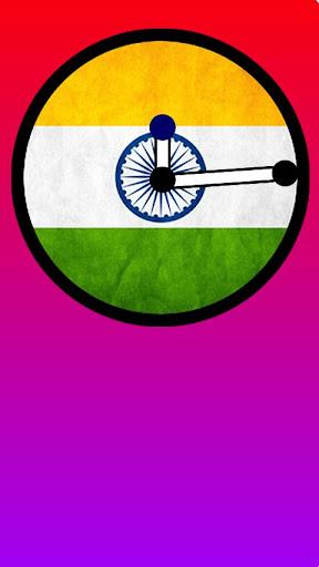Indian Flag Clock Widget