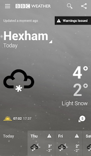 BBC Weather - screenshot thumbnail