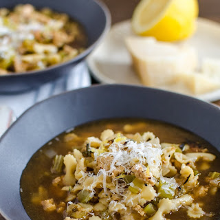 Lemon & Rosemary Chicken Minestrone Soup
