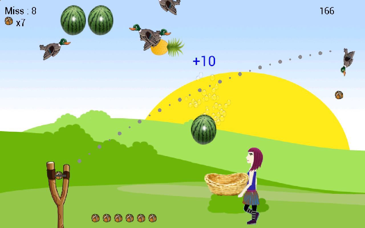 Bubble fruits game - Shoot Girl S Fruits Gulel Screenshot