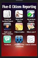 Screenshot of Five-O Police Rating App 1.2