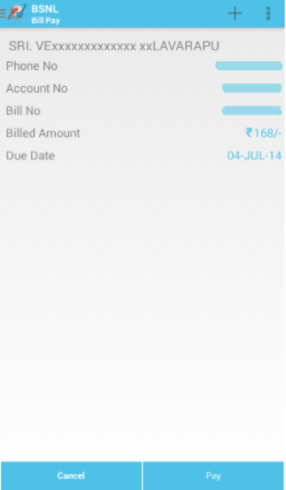 My BSNL App- screenshot