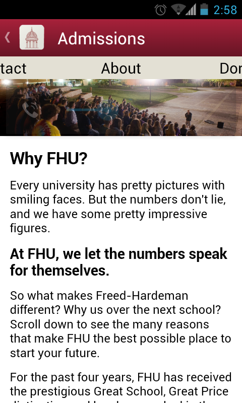FHU Mobile - screenshot