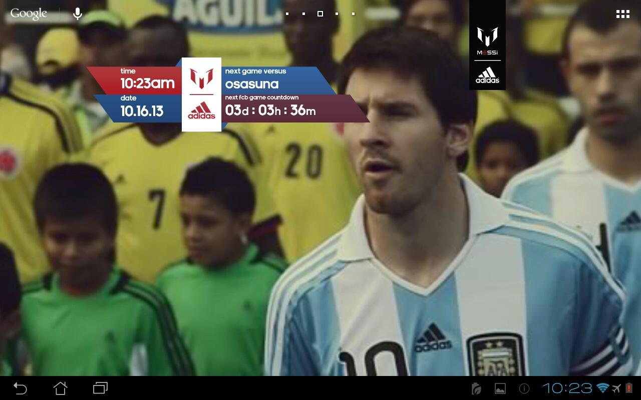 Official Messi Live Wallpaper - screenshot