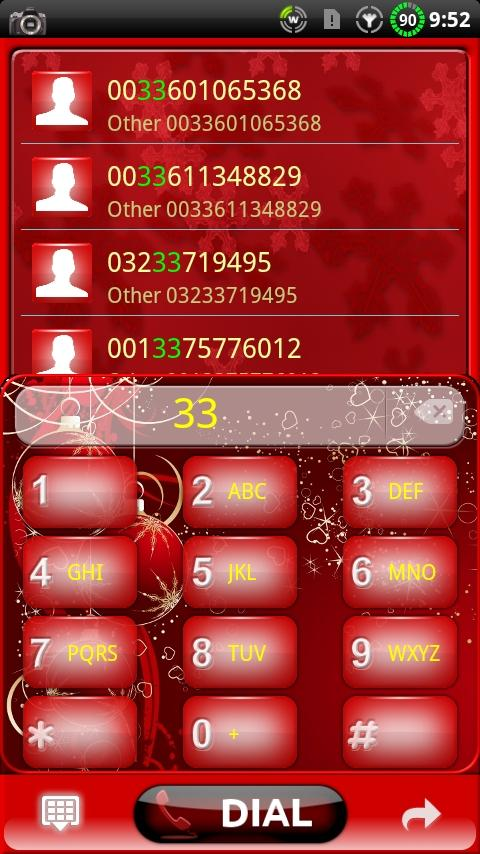 GOContacts theme CHRISTMAS- screenshot