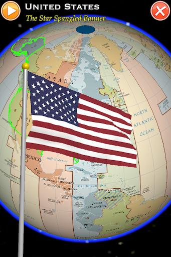 地球儀與國旗國歌 世界時區 ISO 3166-1