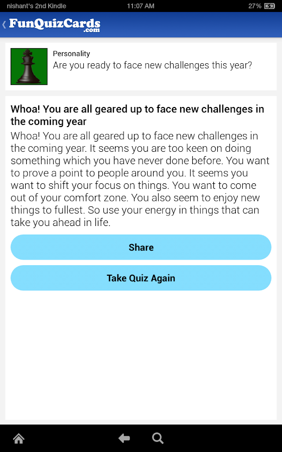 Fun Personality Quizzes- screenshot