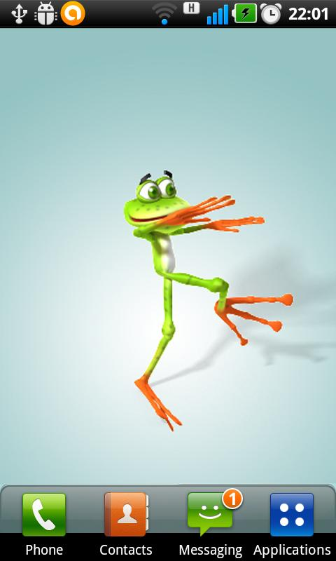 Dancing Frog Live Wallpaper - screenshot