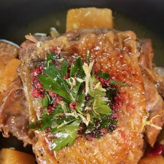 Braised Cranberry Turkey Thighs.