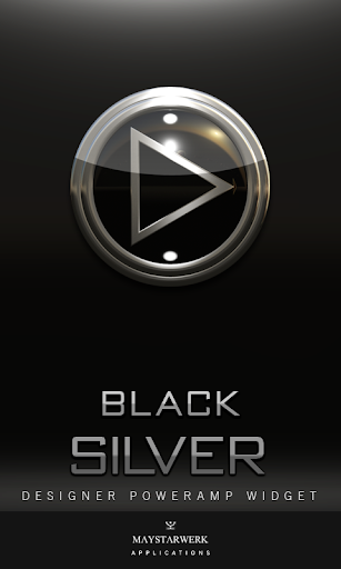 Poweramp Widget Black Silver