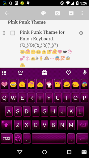 Pink Punk Emoji Keyboard Theme