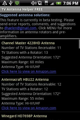TV Antenna Helper FREE - screenshot