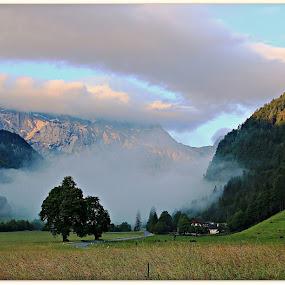 Jutranje meglice....Logarska dolinia. by Jani Matko - Landscapes Mountains & Hills