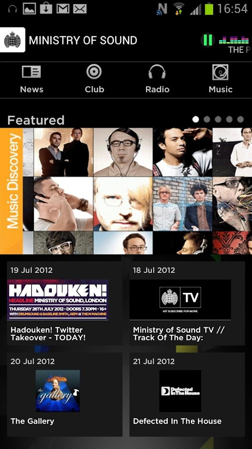 Ministry of Sound - screenshot