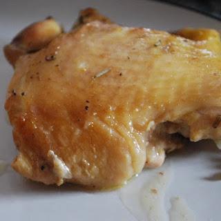 Crock Pot Garlic Herb Chicken Thighs.