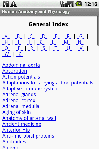 Human Anatomy&Physiology Guide - screenshot