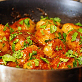 Lemon Cilantro Chicken Meatballs
