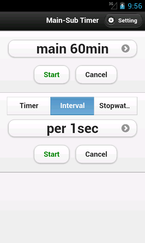 Main-Sub Timer- screenshot