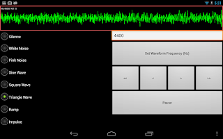 Screenshot of SoundForm Signal Generator