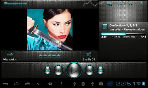 娛樂必備免費app推薦|Poweramp skin 钢绿松石線上免付費app下載|3C達人阿輝的APP