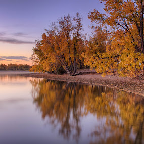 Sunrise In Fall by Hans Watson - Landscapes Sunsets & Sunrises ( cherry creek state park, fall, colorado, lake, sunrise, cherry creek,  )