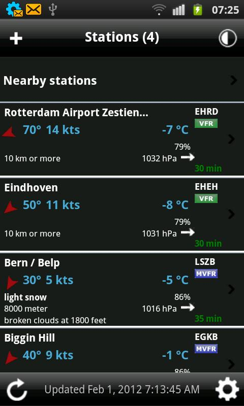 AeroWeather Screenshot 1